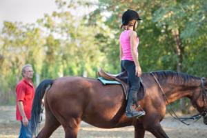 moniteur d'équitation